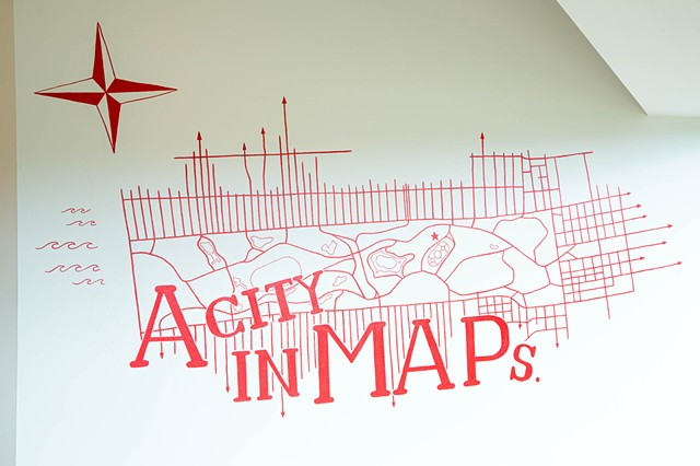 A City in Maps - wall painting