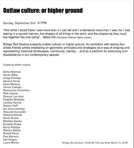 Outlaw Culture: or higher ground