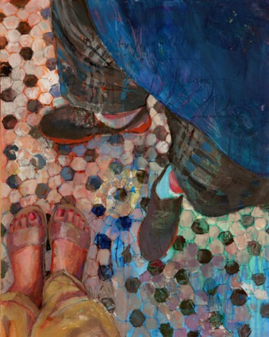 Figurative and pattern painting by Phyllis Gorsen