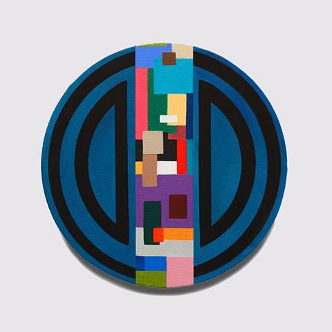 Lines, black,color block painting,circle, geometric abstract, geometric, abstract painting, color, colorful, nature, art
