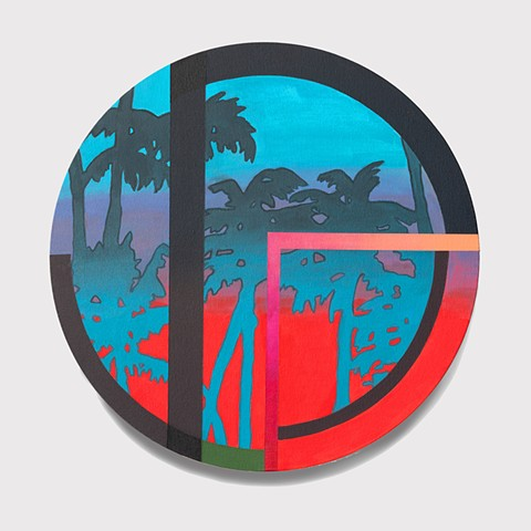 Trees, painting,circle, geometric abstract, geometric, abstract painting, color, colorful, nature, art