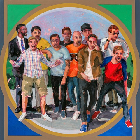 boys, painting, teen, fun painting, colorful painting, figurative painting