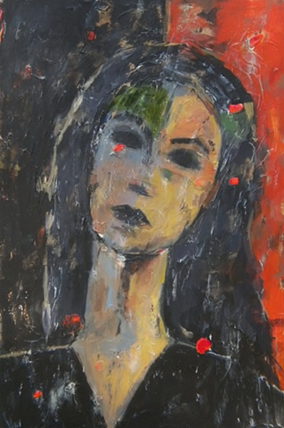 Visage in Red and Black