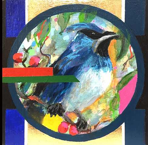 bird, art, arte, painting, acrylic painting, geometric painting, Philadelphia artist, artist, gallery