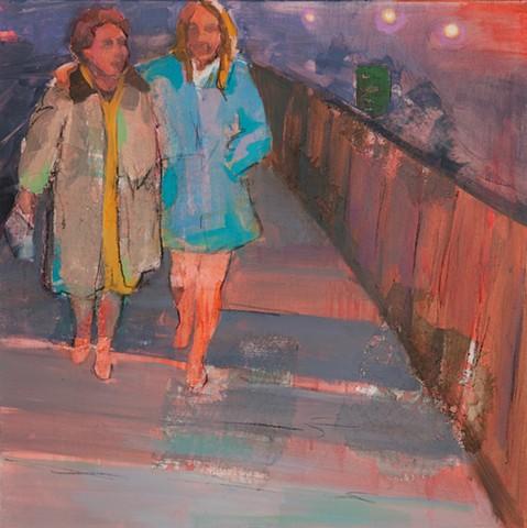 Acrylic figurative painting by Phyllis Gorsen