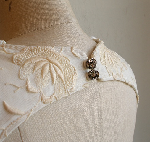 charlyse's heirloom lace and vintage diamond buttons