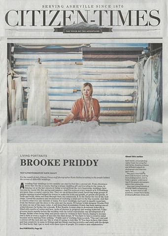 Feature in Asheville Citizen Times