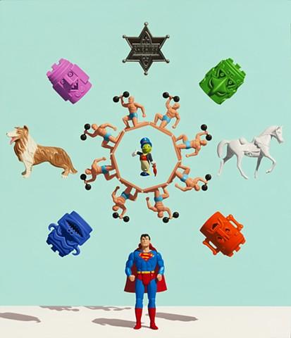 MIGHT AND MAIN (SUPERMAN MANDALA)