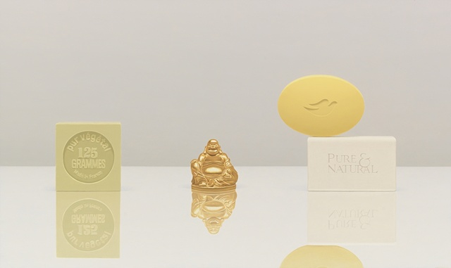 GOLDEN BUDDHA WITH BAR SOAP