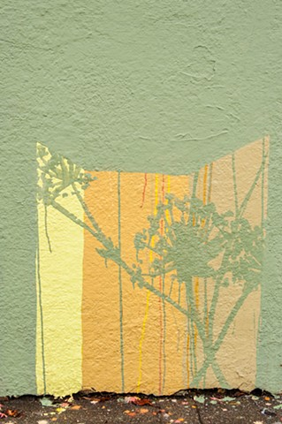Abrams Claghorn, Ohlone Greenway, Mural,yellow, green, gold, color field painting