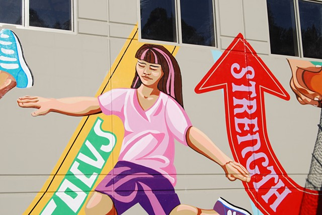 Public Art, Alameda County, prison, mural, art, painting, sports, youth