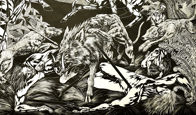 Atalanta at the Calydonian Boar Hunt (Detail)