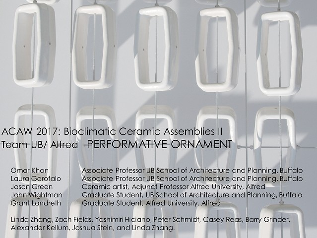Performative Ornament Bioclimatic Assemblies Workshop  Architectural Ceramic Assemblies Workshop