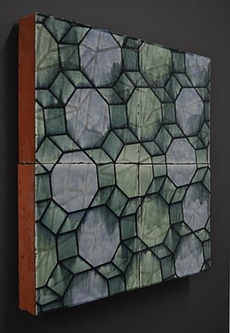 architectural terra cotta clay ceramic tile installation art wall design