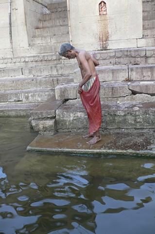 Ritual Bathing in the Sacred Ganges, Varanasi, India