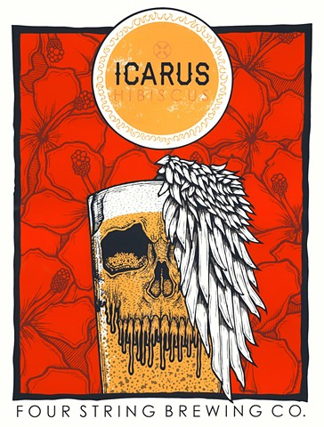 Icarus Hibiscus Poster
