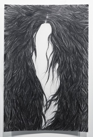 Long Hair Black Metal Drawing