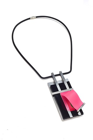 Behind Pink Curtain Necklace