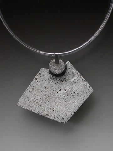 White Concrete  necklace