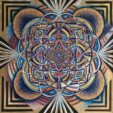 Sacred Geometry Painting