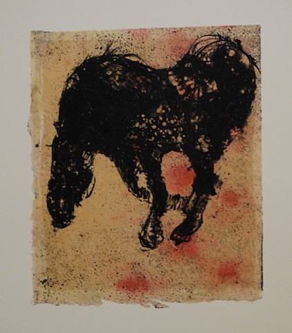 Dominant Mare:  Spotted Horse (litho)