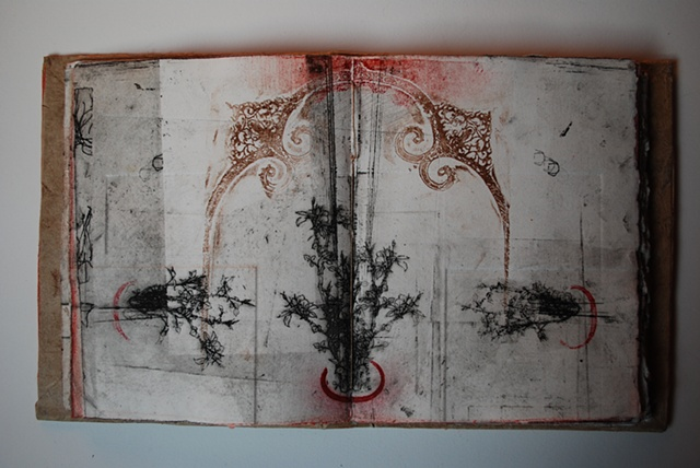 artist book, intaglio print by wyoming printmaker