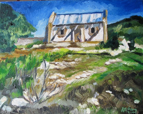 Rural Overberg Buildings - Paintings