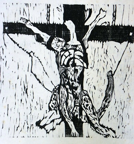 Leopard Crucified