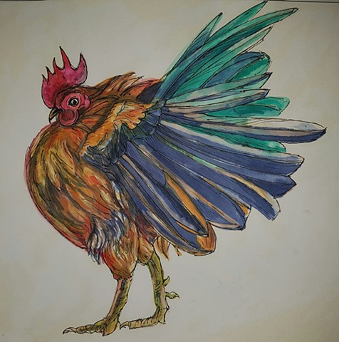 Fowls Around the Farm - Paintings and Drawings