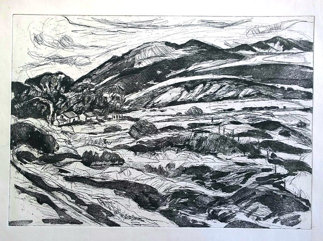 Overberg Landscape Etchings