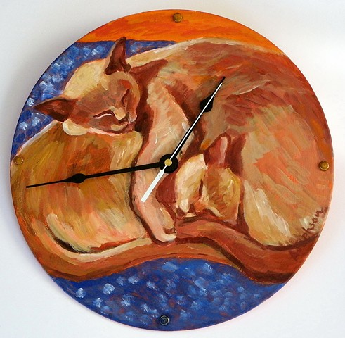 Bloomsbury Cat Clock