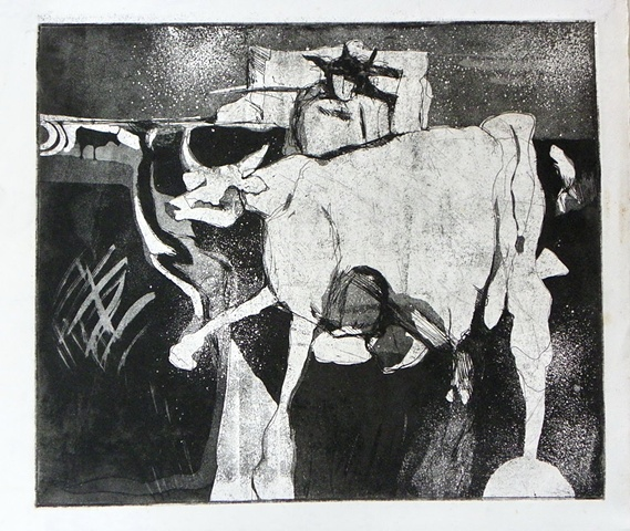 Bulls and Sacred Cows- Drawings and Etchings