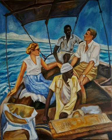 Zanzibar Crossing  1956.  White Privilege Series