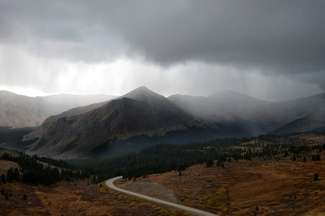 Cottonwood Pass with Hail