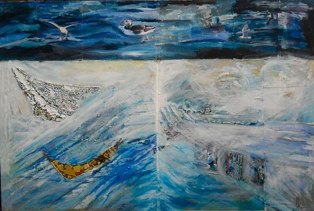 Toxic beauty/ocean debris plastics