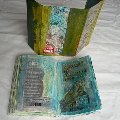 Ocean Entry Back of housing and book pages