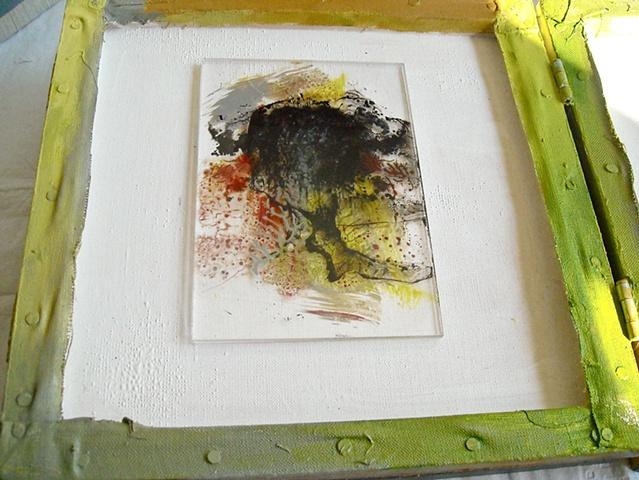 Grey Volcano - unique edition - paint on plexiglass