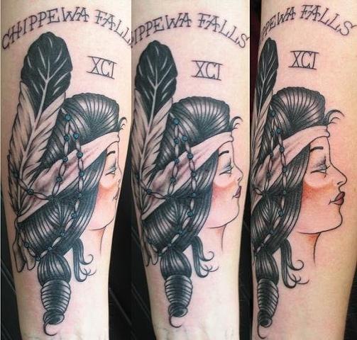 Peter McLeod Tattoo Traditional Native American Chippewa Tattoo