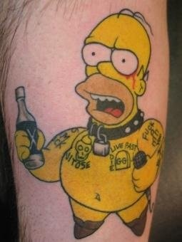 Peter McLeod Tattoo Homer Simpson tattoo