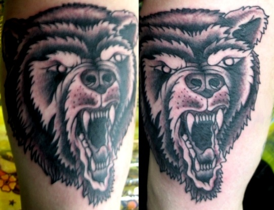 Peter McLeod Tattoo Traditional Bear Tattoo