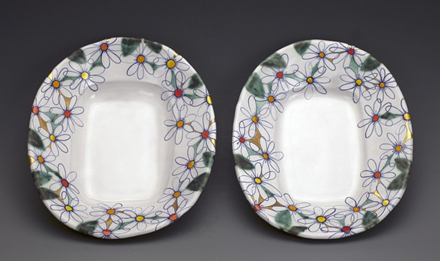 Two Daisy Plates