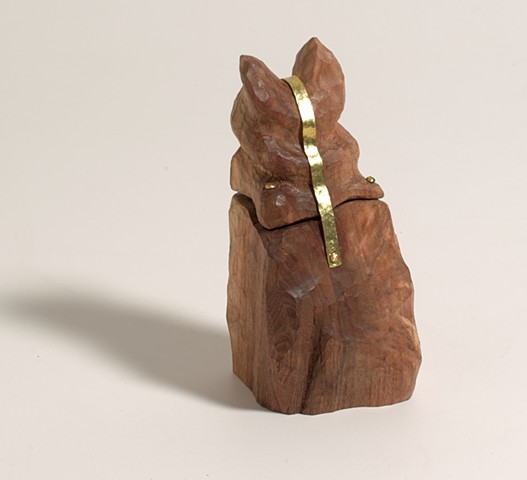 Small woodcarving by Lin Lisberger