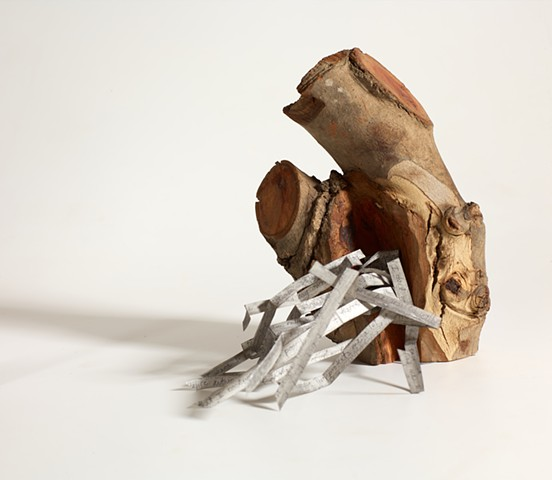 Books as Objects, wood sculpture by Lin Lisberger