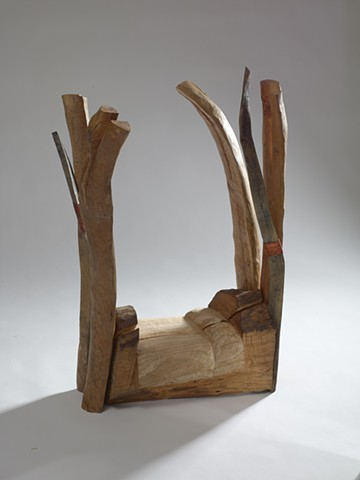 wood sculpture referencing a WS Merwin poem by Lin Lisberger