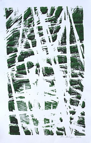 Woodblock print by Lin Lisberger