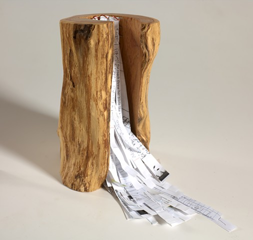 Books as Objects, collaborative wood sculpture by Lin Lisberger