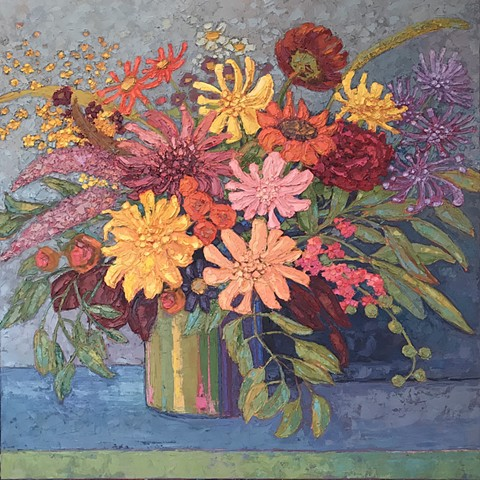 Now Bouquet painting in September color