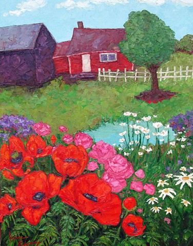 Poppy Patch at the Farm - SOLD