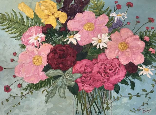Pink Peony Bouquet - SOLD