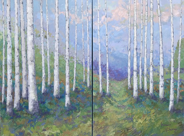 Birch Series - Spring Show- SOLD